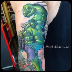 Custom hulk tattoo