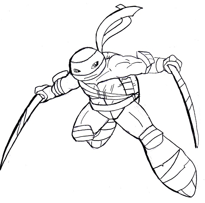 leo tmnt coloring pages - photo#14