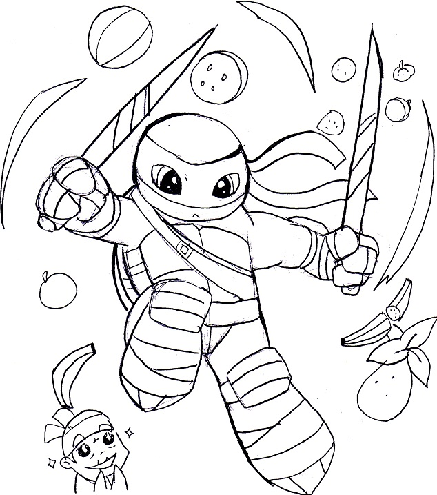 nickelodeon tmnt coloring pages - photo#32