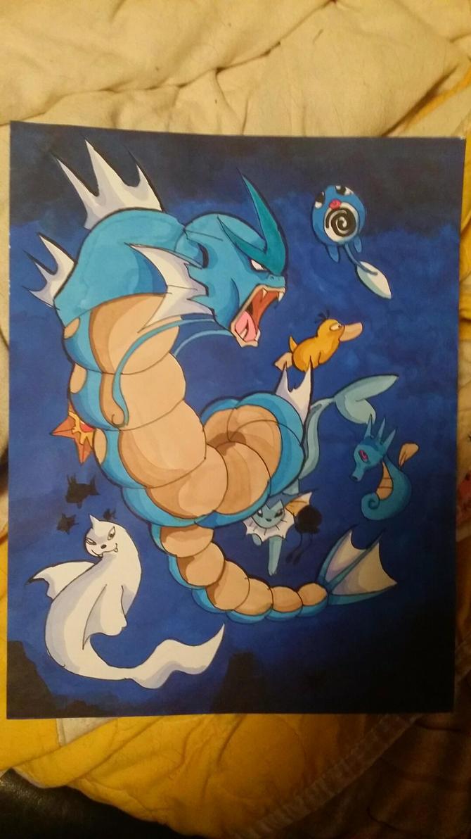 Water pokemons by WolffangComics