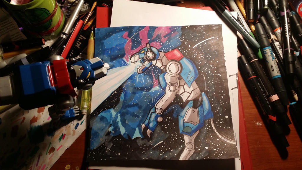 Voltron blue lion by WolffangComics
