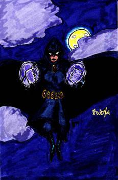 Raven at Moonlight