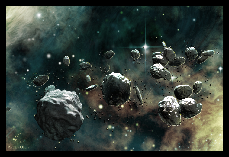 Asteroids by Caspau