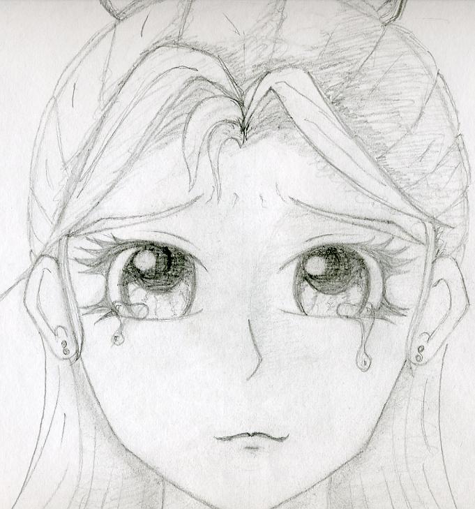Anime Girl Crying Drawing Easy Anime Collection
