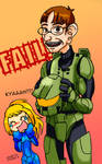 Master Chief's face
