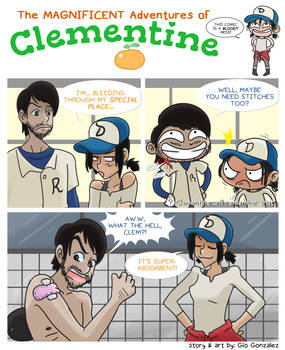 Clementine's bloody business.