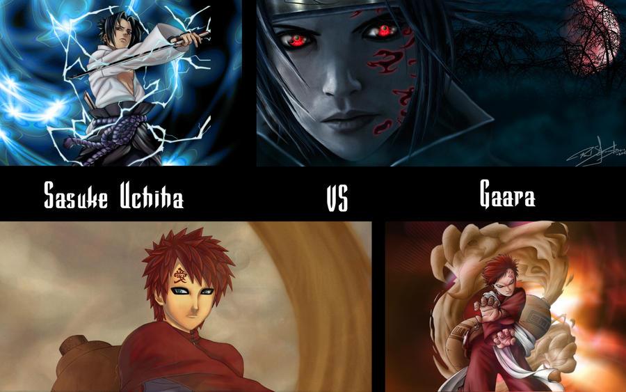 How to draw sasuke vs gaara