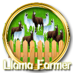 Llama farmer gold by Michio11