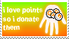 I love points stamp by Michio11