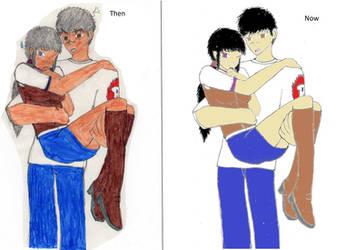Maxtaro and Kyoko: Color Redo by RambaRal4OWNAGE