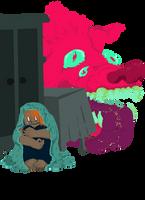 A monster approaching by Nasstia
