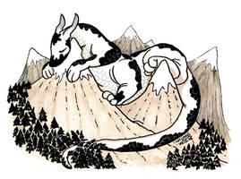 Dragon sleeping by Nasstia