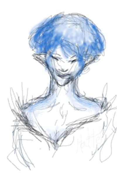 A study in blue by Tenru-Wingstorm