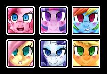 Mane Six Icons by PaperKoalas