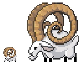 Pixel Ram by MowenDesigns