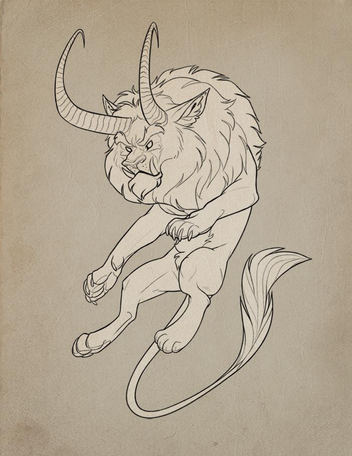 Beastie Lineart by MowenDesigns