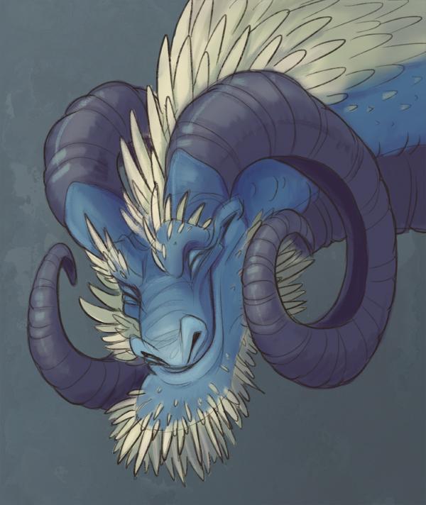 Kind Old Dragon by MowenDesigns