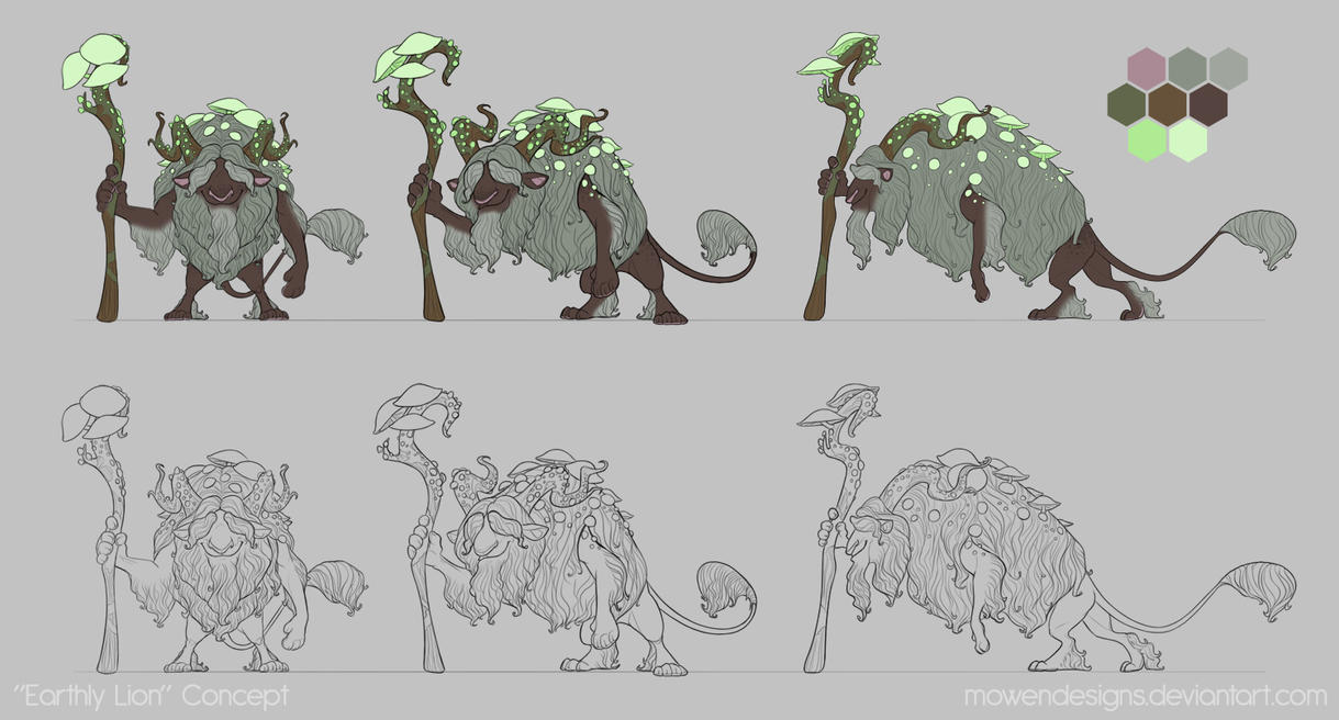 Earthly Lion Turnaround by MowenDesigns