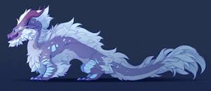 Floofy Dragon Sketch
