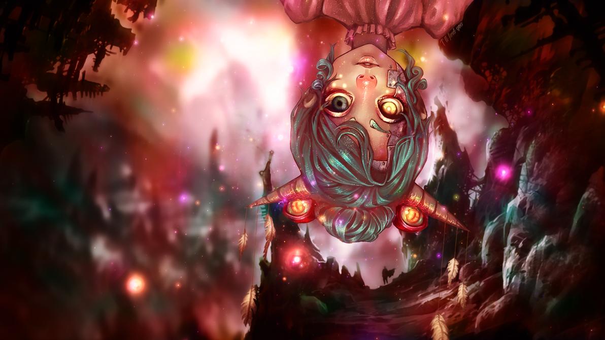 Eyed Demon Horn Anime Girl Wallpaper - 1920x1080 by IAMFX