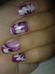 My water marble nail art2 by alwayslovesunshine