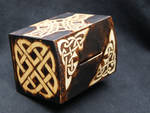 Celtic knot money box top by llinosevans