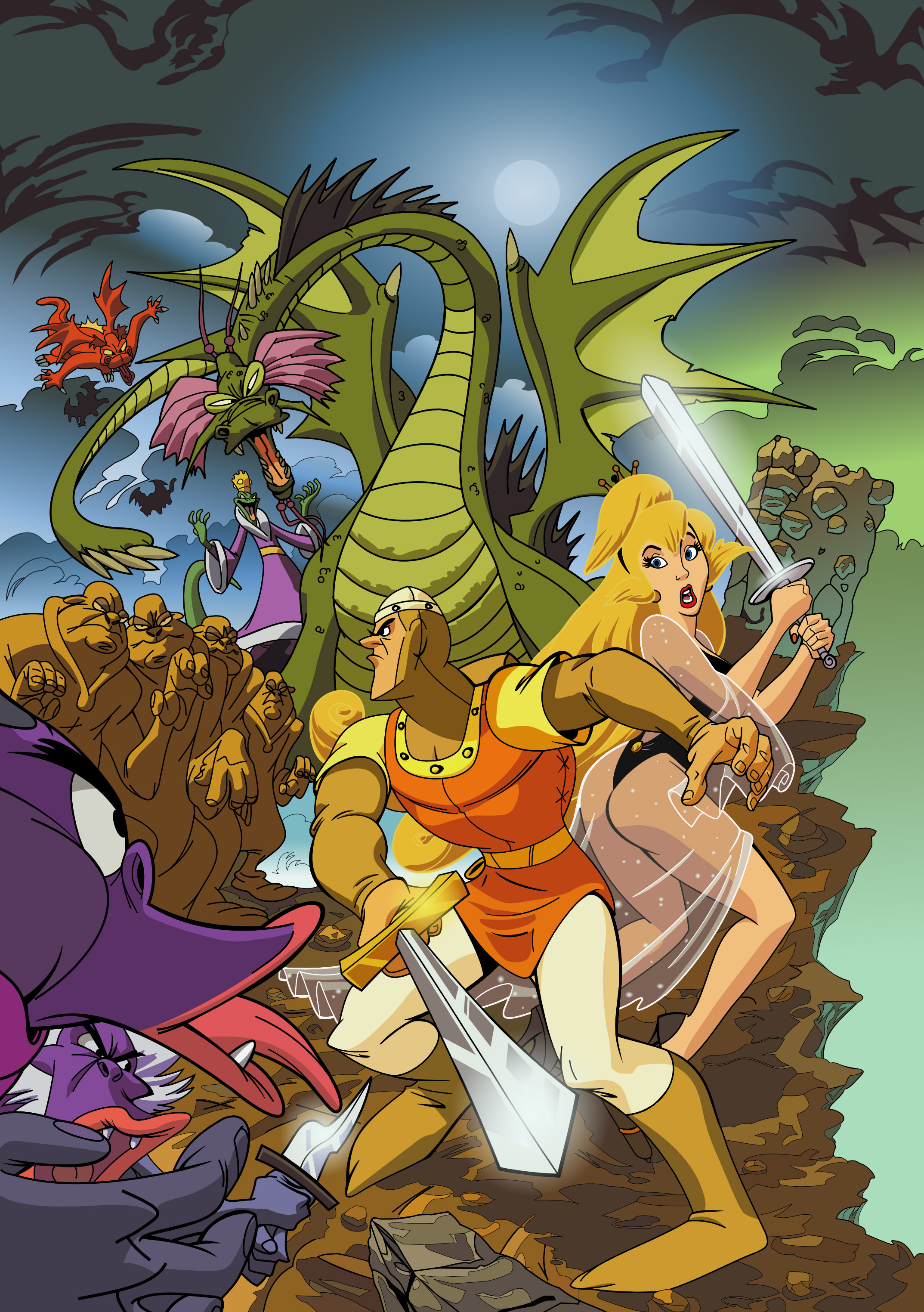 Dragon 39 s lair vector by tbottch on deviantart for Dragon s lair