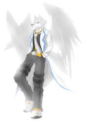 [Colours Commission]  Thunderwolf by qfzpjm159