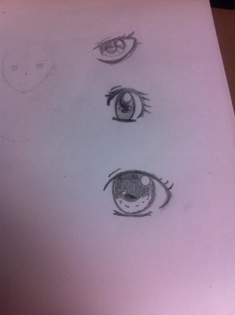 Manga Eye practices - Girl version by xXRedNinjaXx