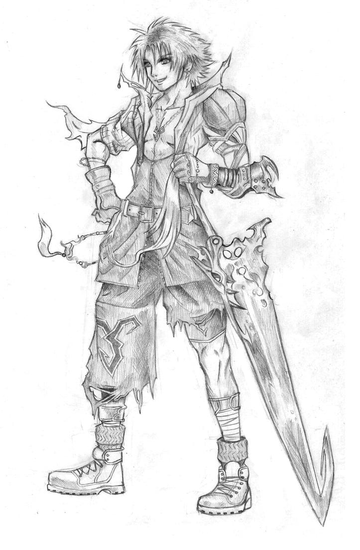 tidus final fantasy dissidia by hollowriku on deviantart
