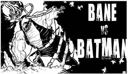 Bane Vs Batman by stephgallaishob
