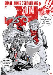 Happy New Year 2014 by stephgallaishob