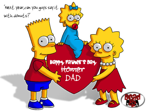 SIMPSONS FATHER'S DAY by DeadDog2007