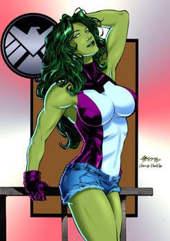 She Hulk By Alissonart-dbu58oo4