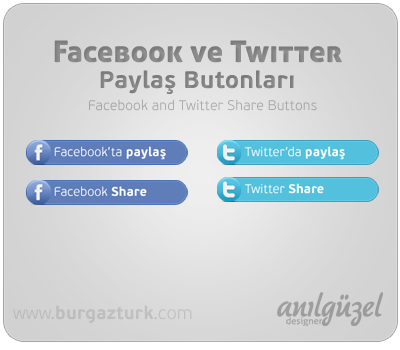 Facebook and Twitter Share Buttons