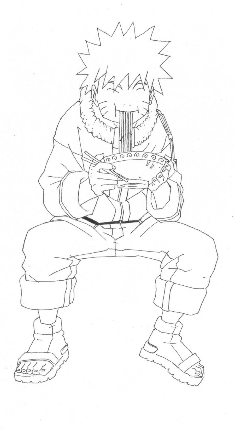naruto eating ramen coloring pages - photo#21