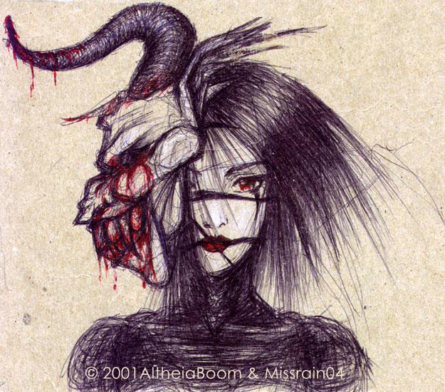 Demon-Masked Lady