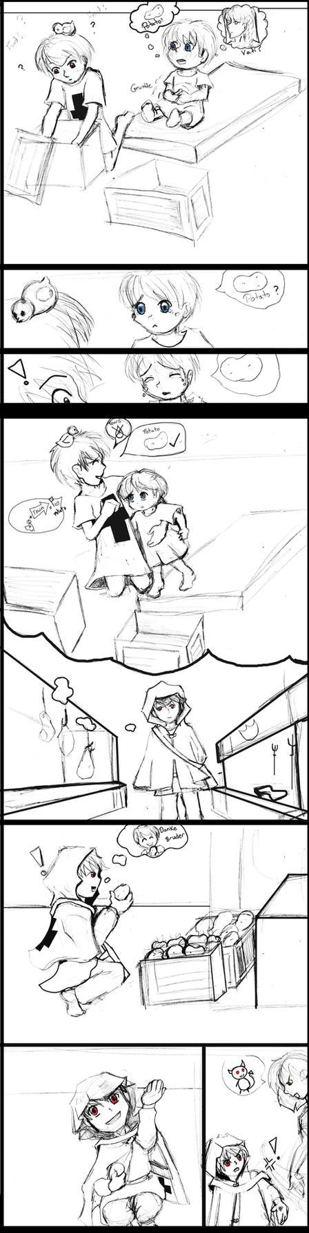Gilbert and Ludwig APH: Sketch Comic- Page 1 by Kiggystar