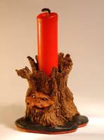 Magic tree with fairy mushroom by Lluhnij