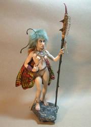 Noble warrior fairy - OOAK fantasy art doll by Lluhnij