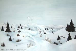 Winter spirit - acrylics by Lluhnij