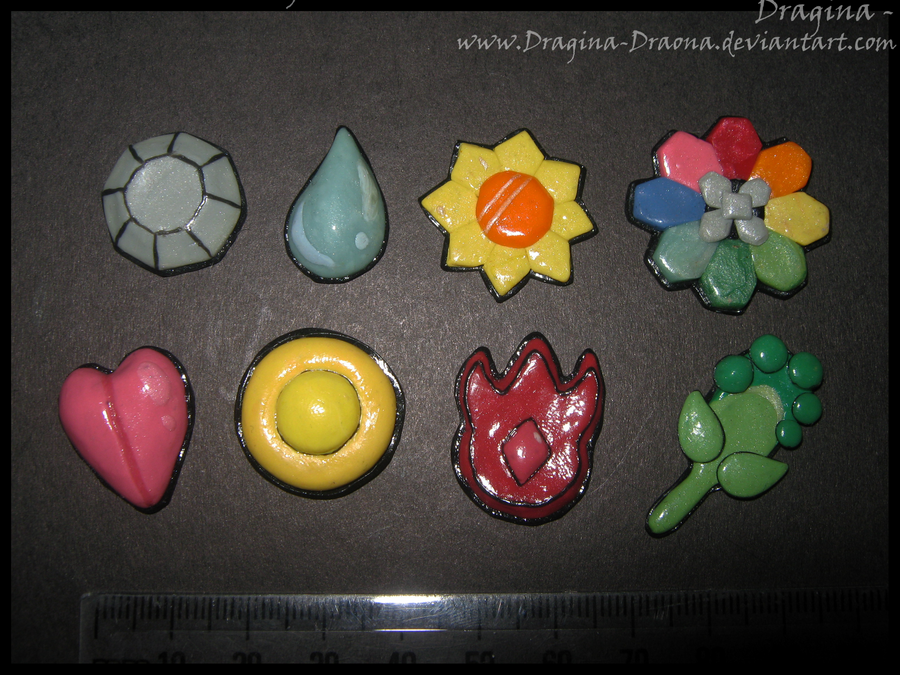 Indigo League, Kanto Badges by Dragina-Draona