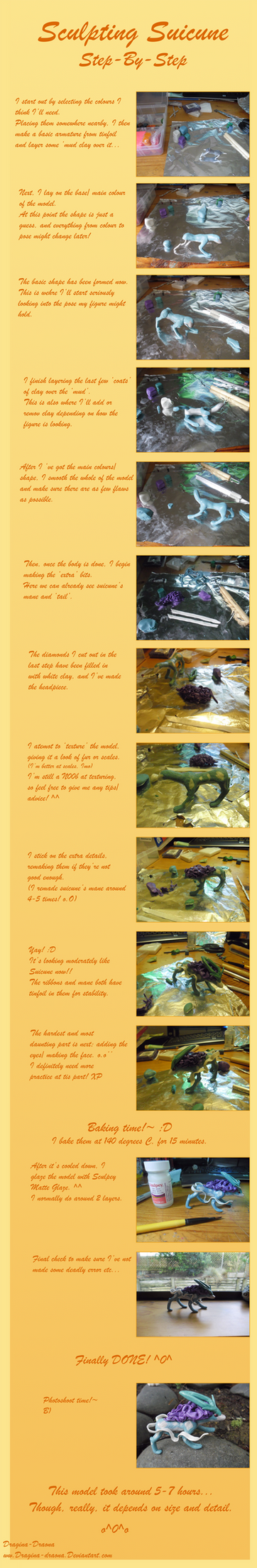 How I Sculpted Suicune - Step by Step by Dragina-Draona