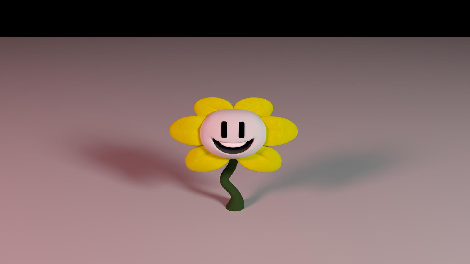[Blender] Flowey the flower video by Azagwen on DeviantArt