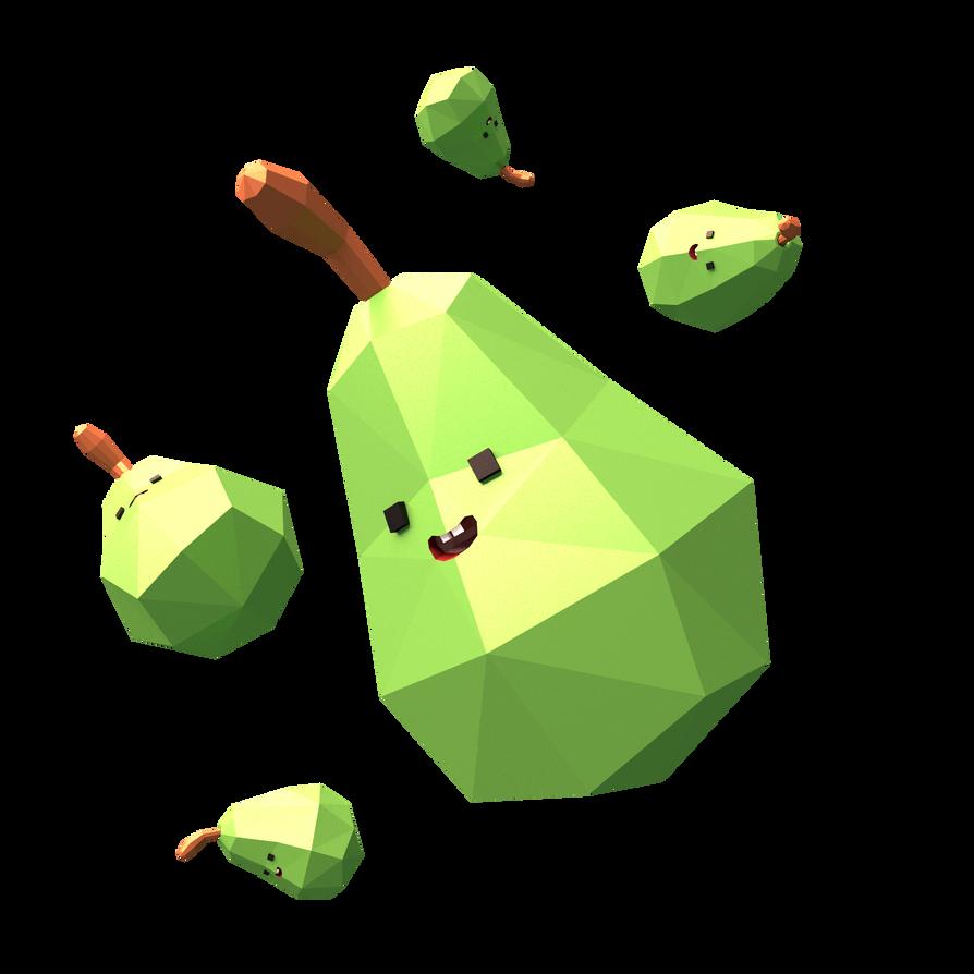 Biting (cute) Pears ! by Azagwen