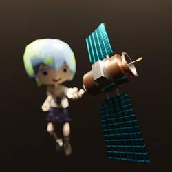 Satellite Catcher by Azagwen