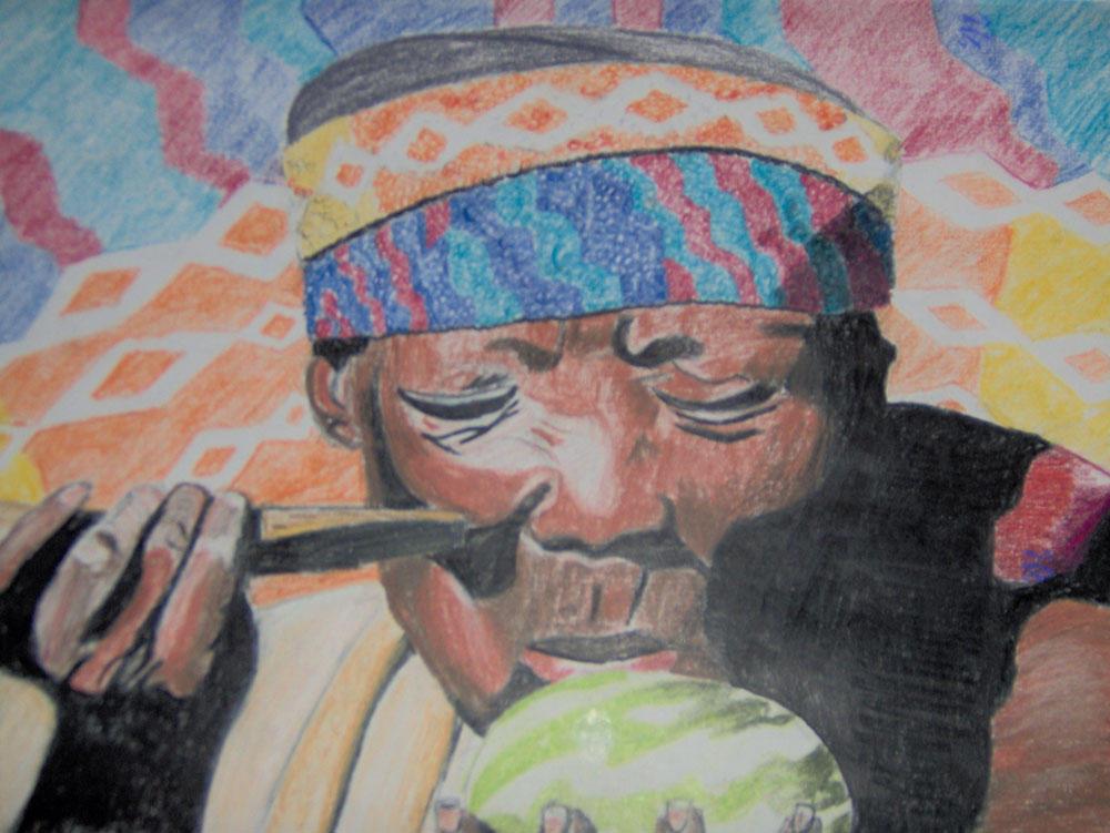 Man Eating a Melon by PerilsofLife