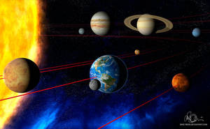 Solar System in 3D by mike-reiss