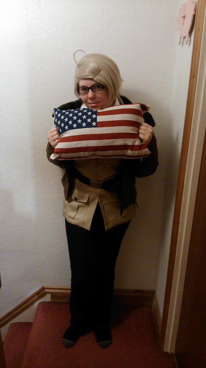 America loves his pillow! by Shadowolf1990