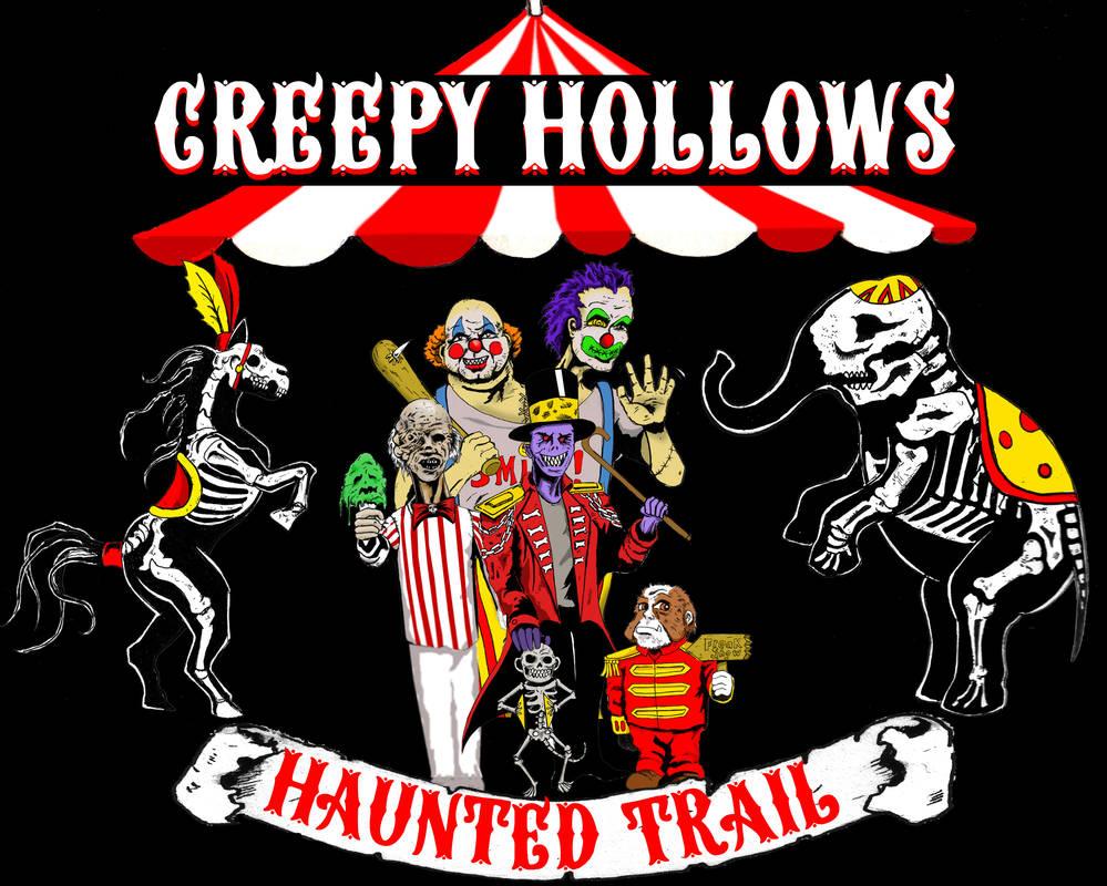Creepy Hollows Haunted Trail 2019 Shirt Design by bobveon